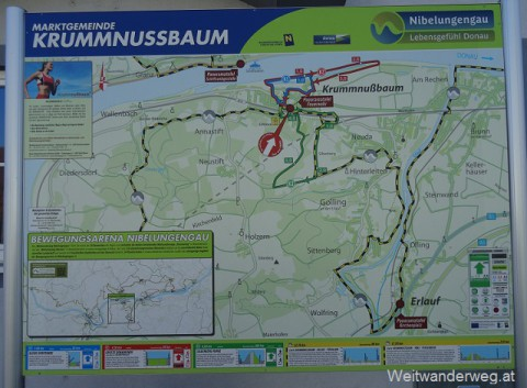 Krummnussbaum im Nibelungengau, Donautal