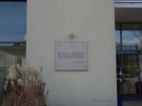 Grillparzer Andenken auf dem Kahlenberg