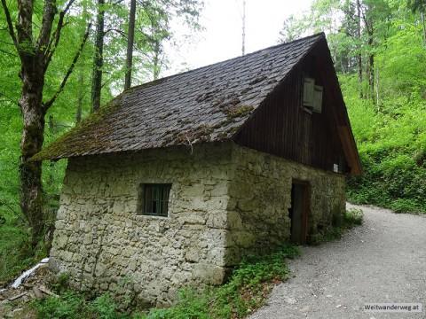 Eingang Eibenmühle zum Naturpark Ötscher Tormäuer.