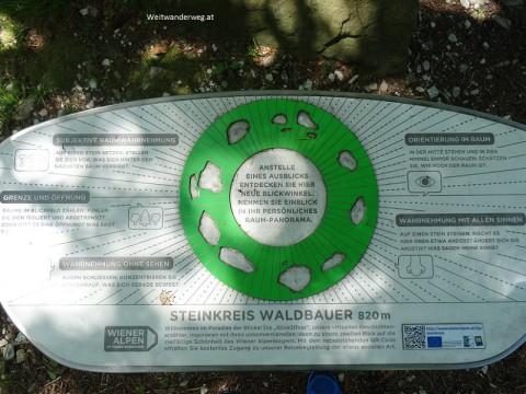 Wiener Alpen, Paradies der Blicke, Steinkreis Waldbauer