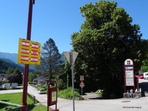Wegweiser in Hollenstein an der Ybbs, Niederösterreich