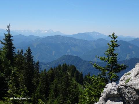 Ausblick vom Tanzboden Gipfel in den Eisenwurzen