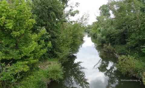 Fluß Leitha bei Bruck an der Leitha