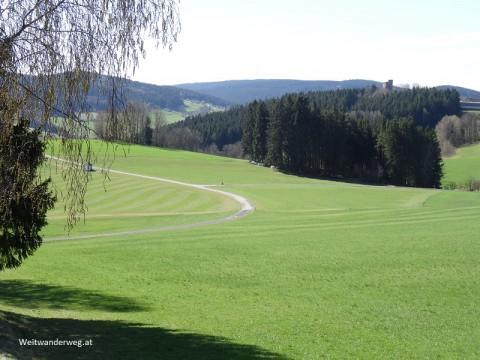 Mühlviertler Landschaft bei der Ruine Lobenstein,Oberösterreich