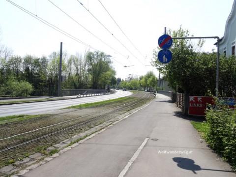 Die Wiener Straße in Linz