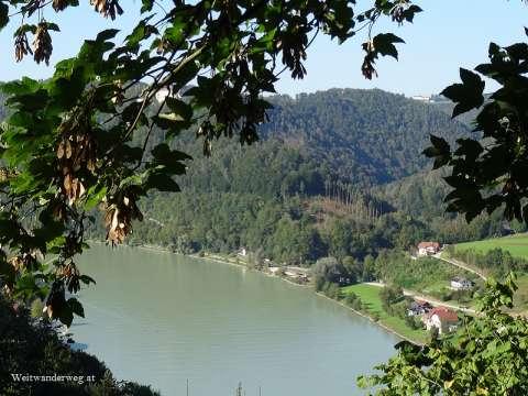 Mündung Fluss Ranna in die Donau