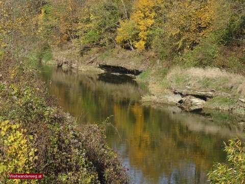Fluss Erlauf bei Krummnussbaum, Bezirk Melk, Niederösterreich