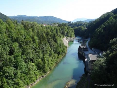 Fluss Steyr beim Stausee Klaus