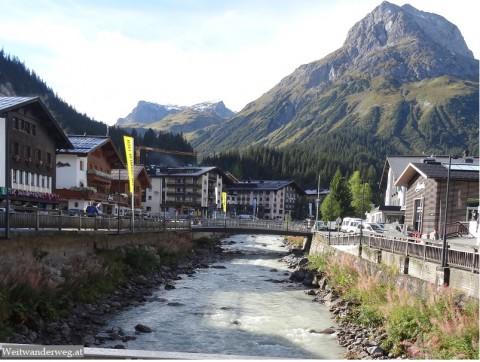 Fluss Lech in Lech am Arlberg