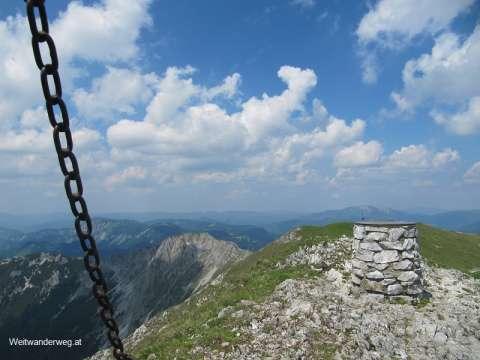 Ausblick vom Gipfel der Hohen Veitsch