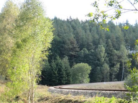 Eisenbahn Schmalspurbahn bei Langschlag im Waldviertel