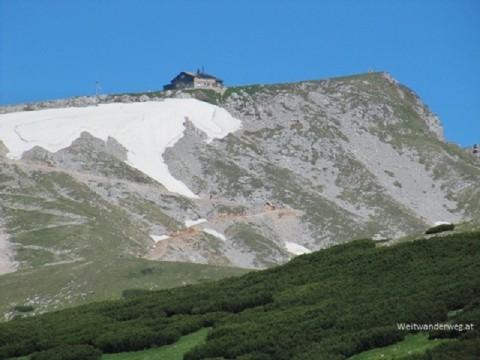 Die Fischerhütte auf dem Schneeberg in Niederösterreich beim Kaiserstein