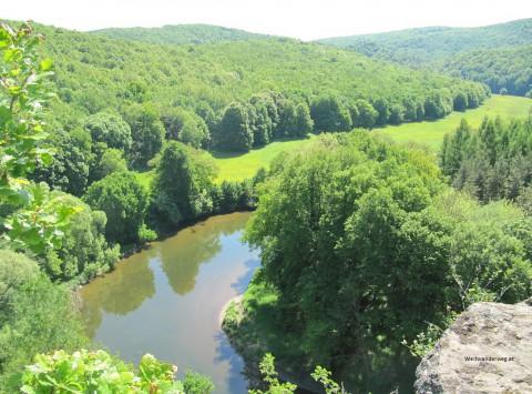 Mäandrierende Thaya beim Umlaufberg, Nähe Hardegg, Waldviertel, Niederösterreich