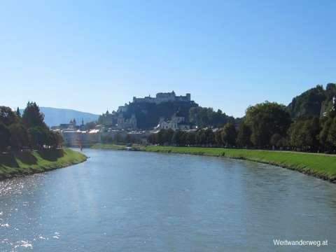 Fluss Salzach in Salzburg Stadt