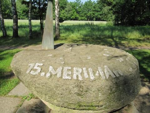 Meridianstein im Naturpark Blockheide Gmünd-Eibenstein