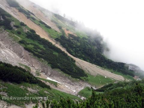 Abstieg vom Schneealpenhaus durch den Blarergraben, Steiermark