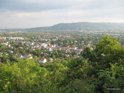 Marktgemeinde Langenzersdorf in Niederösterreich. Blick vom Bisamberg.