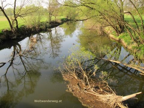 Auf dem Thayatalweg - Fluß Thaya bei Dobersberg