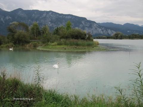 Fluss Inn bei Ebbs, Bezirk Kufstein