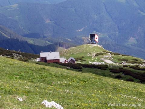 Das Graf Meran-Haus auf der Hohen Veitsch in den Mürzsteger Alpen