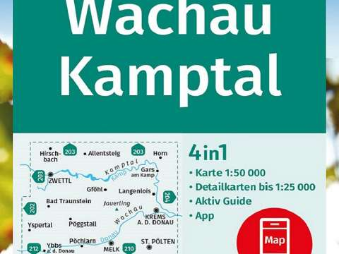 KOMPASS Wanderkarte, Band 207, Wachau, Kamptal