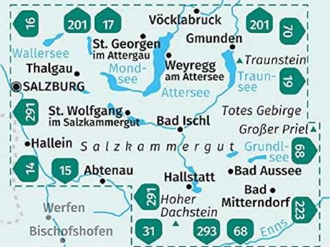 KOMPASS Karte Salzkammergut