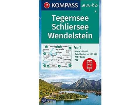 Kompass Karte Tegernsee, Schliersee, Wendelstein