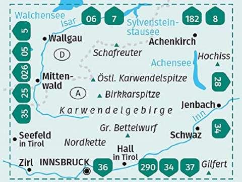 KOMPASS Karte Band 26, Karwendelgebirge