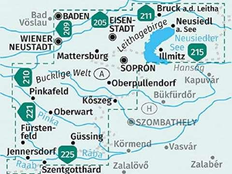 KOMPASS Karte, Wanderkarte Band 227, Burgenland