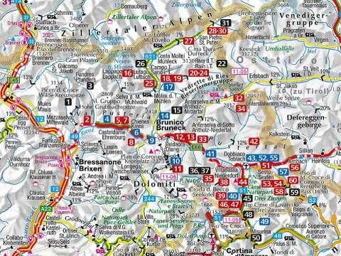 Kompass Pustertal und seine Seitentäler, Herausragende Dolomiten