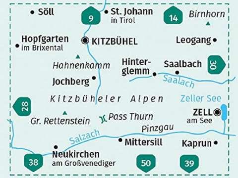 KOMPASS Wanderkarte Band 29, Kitzbüheler Alpen