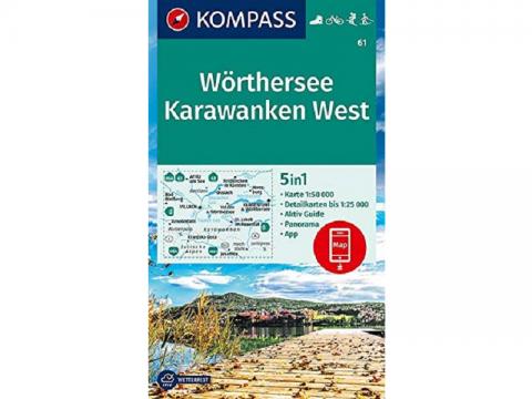 Kompass Wanderkarte 061, Wörthersee, Karawanken