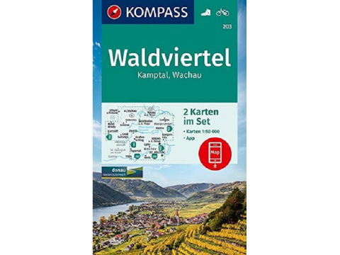 KOMPASS Karte Band 203, Waldviertel, Kamptal, Wachau