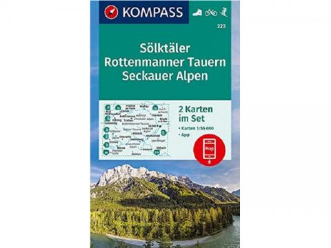 Karte Kompass 223, Sölktäler, Rottenmanner Tauern, Seckauer Alpen