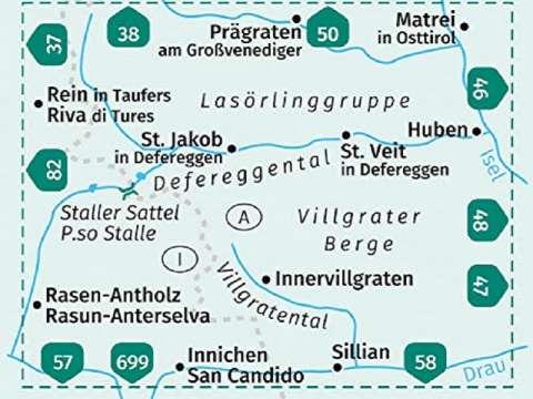 Kompass Wanderkarte, Band 45, Defereggental, Villgratental, Lasörlinggruppe, Villgrater Berge