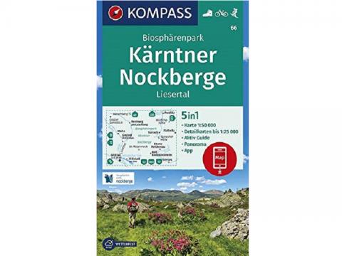 KOMPASS Wanderkarte Biosphärenpark Kärntner Nockberge, Liesertal