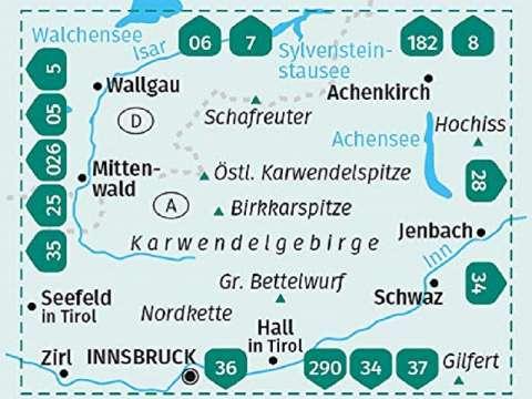 Kompass Karte Band 26 Karwendel