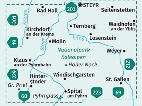 Kompass Karte Band 070 Nationalpark Kalkalpen
