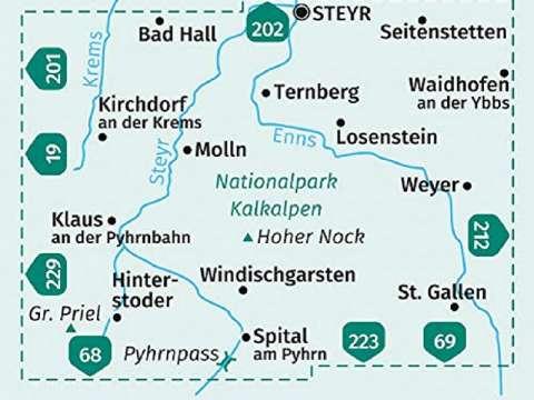 Kompass Karte Band 70,Nationalpark Kalkalpen, Ennstal, Steyrtal, Pyhrn-Priel-Region