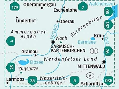 KOMPASS Karte, Band 790, Garmisch-Partenkirchen, Mittenwald