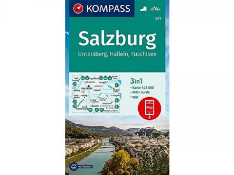 KOMPASS Wanderkarte, Band 017, Salzburg, Untersberg, Hallein, Fuschlsee