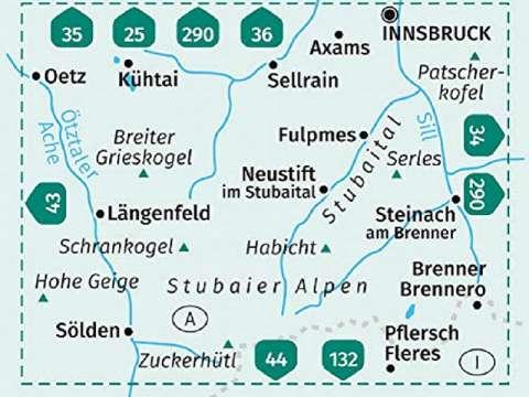 Kompass Wanderkarte, Band 83, Stubaier Alpen