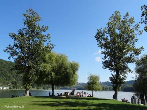 Stadt Passau am Zusammenfluss der Flüsse Donau, Ilz und Inn