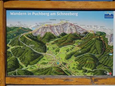 Wander Infotafel in Puchberg am Schneeberg, Bezirk Neunkirchen