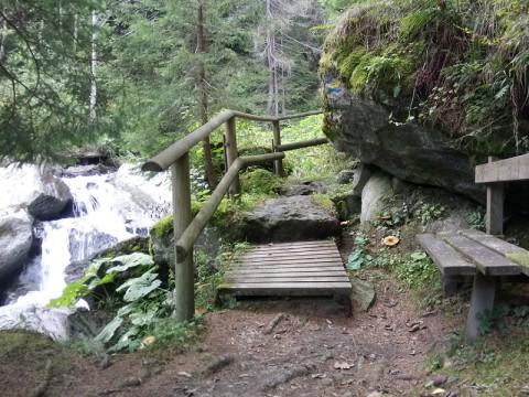 Wanderweg in der Rabischschlucht bei Mallnitz im Nationalpark Hohe Tauern