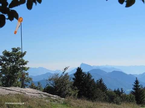 Ausblick zu den Alpen vom Gaisberg in Salzburg