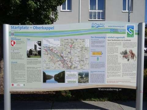 Donausteig Infotafel in Oberkappel