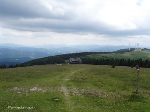Das Roseggerhaus in den Fischbacher Alpen