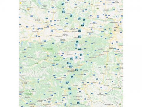 Weitwanderweg 05, Austria, Google maps Projekt